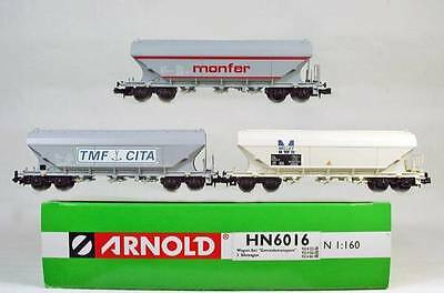 ARNOLD HN6016 Coffret Set N Scale Gauge 3 WAGONS CARS