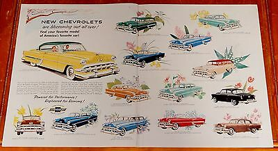 1954 Chevy Bel Air 210 & 150 All Models Large Ad - Vintage Chevrolet Classic 50S