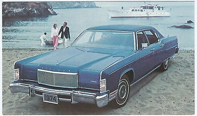1974 LINCOLN Continental 4-DOOR SEDAN Dealer NOS Promotional Postcard UNUSED VG