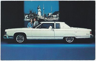 1976 LINCOLN Continental TOWN COUPE´ Dealer NOS Promotional Postcard UNUSED VG+