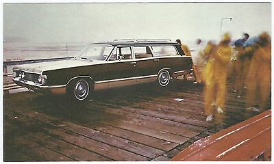 "1968 Mercury COLONY PARK ""Woodie"" Station Wagon Dealer Promo Postcard UNUSED VG+"