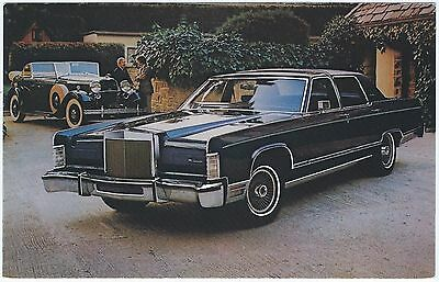 1979 LINCOLN Continental TOWN CAR COLLECTOR SERIES Dealer Promo Postcard UNUSED