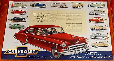 Gorgeous 1950 Chevy Styleline All Models  Large Ad - Vintage Chevrolet Classic