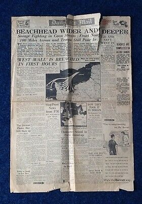 Daily Mail Newspaper 7th June 1944---the day after DDay