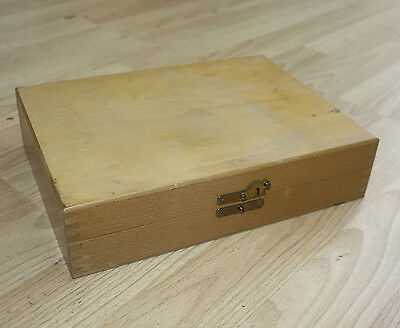 Vintage Wooden Photographic 35mm Slide Storage Box/Case - 100 Slide Slots BLANK