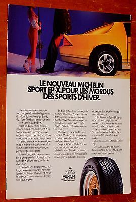 Yellow Camaro Iroc Z For 1987 Michelin Tires French Canadian Ad - Retro 80S