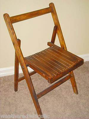 WWII RAF Royal Air Force Air Ministry Hardwood Folding Chair 1940 BoB Dated NICE