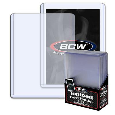 1 Pack of 10 BCW Toploaders 3 x 4 x 2.75mm 108pt Topload Card Holders