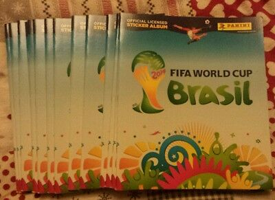 Panini World Cup Brasil 2014 - Job Lot of 15 Empty Albums NEW