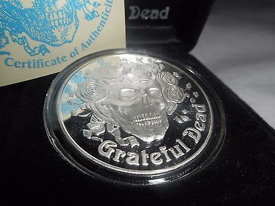 Skull & Roses Grateful Dead Silver Commemorative Coin 1 Troy Ounce #1166 / 5000