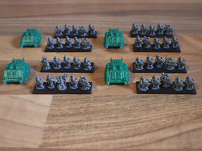 Epic 40k Armageddon Chaos Space Marine Retinue with Sorcerer