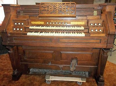 Mason & Hamlin Liszt 41Q 2Mp Reed Organ, Original Condition With Oak Cabinet
