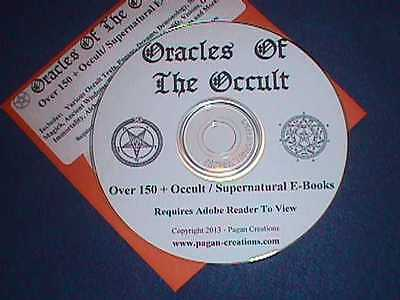 Oracles Of The Occult   150 Occult / Supernatural eBooks CD - Witch Pagan Wicca