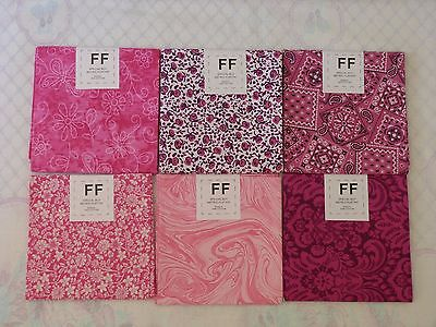 Bulk lot 6 cotton 50x52 cm flat fat fabric patchwork for Bulk sewing material