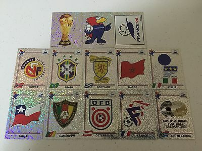 Panini France 98 Rare 34 Badges Wappen Scudetti Foils Complete set original back