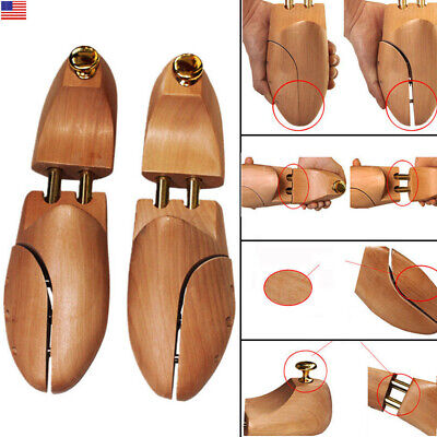 Double Tube Shoe Tree Trees Stretcher Natural Wood Wooden Shaper US8-12, EU41-46