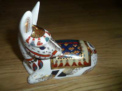 """Royal Crown Derby Thistle"""" Donkey Annual Paperweight, Ltd/ed 1500, Gold Stopper"""