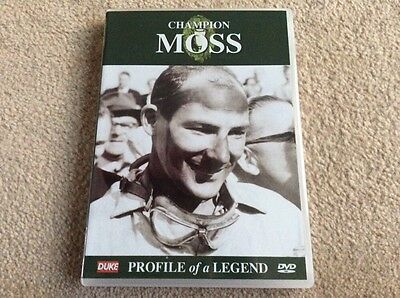 Champion Moss Profile Of A Legend Sir Stirling Moss F1 Formula 1 Grand Prix Dvd