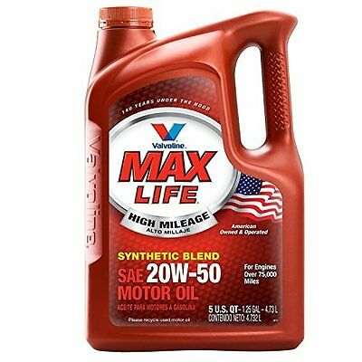 Motor Oil Mobil 1 20W-50 High Mileage Full Synthetic 5 Quart Car Auto Vehicle
