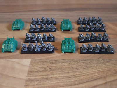Epic 40k Armageddon Chaos Space Marine Retinue and Champion A