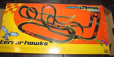 MICRO MANIA SCALEXTRIC 1:64 Terror Hawk - Boxed With Instructions & 1 Extra Car