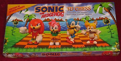 Sonic The Hedgehog 3D Chess Set! Brand New! Tails, Knuckles, Amy Rose, Sega!