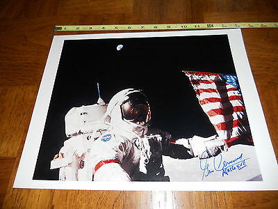 Apollo 17 Astronaut Gene Cernan Signed 11x14 Picture