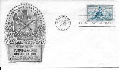 Scott #1017 - National Guard FDC - Staehle Cachet