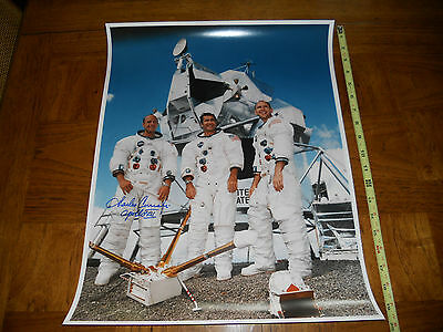 Apollo 12 Crew Picture Signed By Charles Conrad  Large  16 x 20