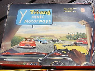 Vintage Triang Motorways Set With Buses And Cars