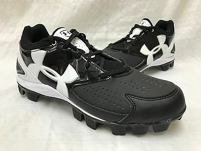 NEW! Under Armour Women's 1264181-011 Glyde RM Softball Cleats Black/White L31