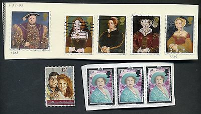 1946, 1947, 1948, 1997 UK Royalty Stamps Lot of 29, Scott's 264-268 Set