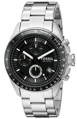 Fossil Men's CH2600 Decker Black Stainless Steel Chronograph Watch