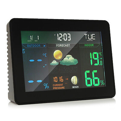 Wireless Colorful Wireless Weather Station Forecast Indoor/Outdoor Thermometer