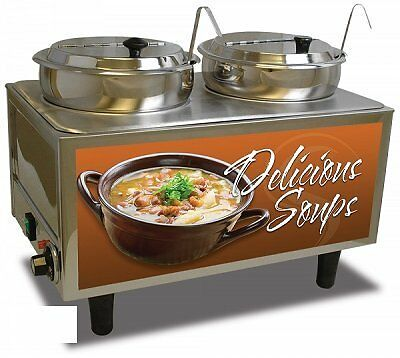 BMRK-51072S-Benchmark USA 51072S Soup Station Warmer twin 7 quart well capacity
