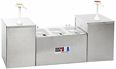 """BMRK-52001-Benchmark 52001 Condiment Station with Pump, 27"""" Width x 15"""" Height"""