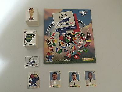 Panini France 98 World Cup Complete Loose Stickers Set + Empty Album + 3 England