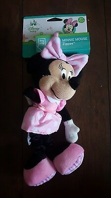 Disney Baby Brand Minnie Mouse Zippee. Car seat toy, vibrates, crinkle, rattle