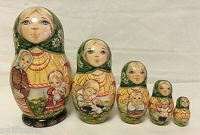 Russian Matryoshka Russian Wooden Nesting Dolls - 5 pieces #14