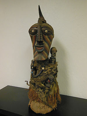 Songye Power Figure Antique From Pontier Collection Large!! Amazing! Details!