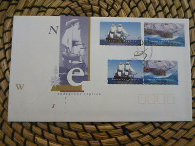 Australia 1995 fdc   Endeavour Replica   full set of stamps