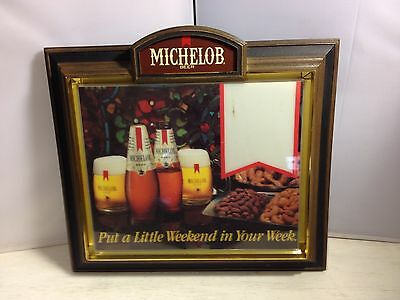 Vintage Michelob Beer Light-up Bar sign Put a little Weekend in your Week - Read