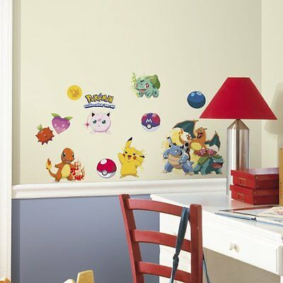24 wall decals Pokemon Iconic Removable and repositionable wall decals for walls