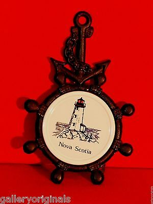 Crown Ship Anchor Cast Iron Trivet Nova Scotia Lighthouse Wall Cup Stove Vintage