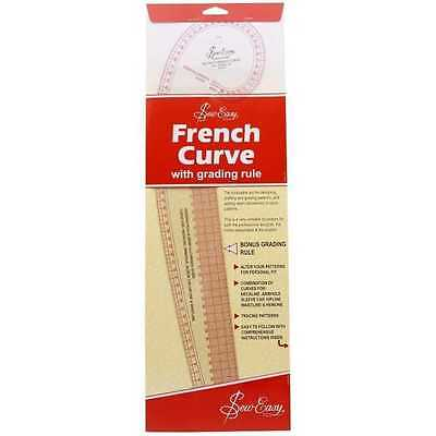 Sew Easy French Curve Ruler (Metric) - With Grading Rule, Quilting, Patchwork