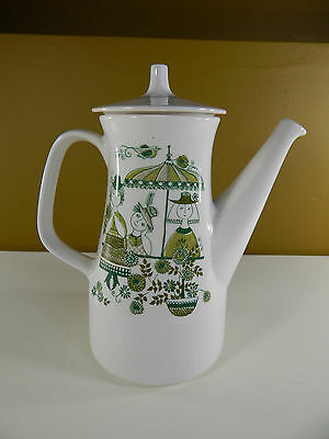Figgjo Flint Market Coffee Pot. Turi Design. Scandinavian Norway Pottery.