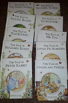 The Peter Rabbit Library by Beatrix Potter - 10 Hardcover Books