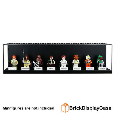 Display Case for Lego Star Wars Minifigure Princess Leia Chewbacca X Wing Pilot