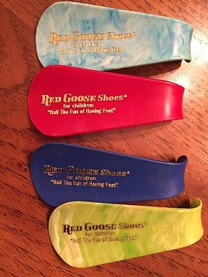 Vintage Promo Advertising RED GOOSE SHOES  Lot Of 4 Multi Colors Very Rare!!!!!