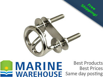 """Ski Tow Ring 3/8"""" Stainless Steel - Tow Rope Hook"""